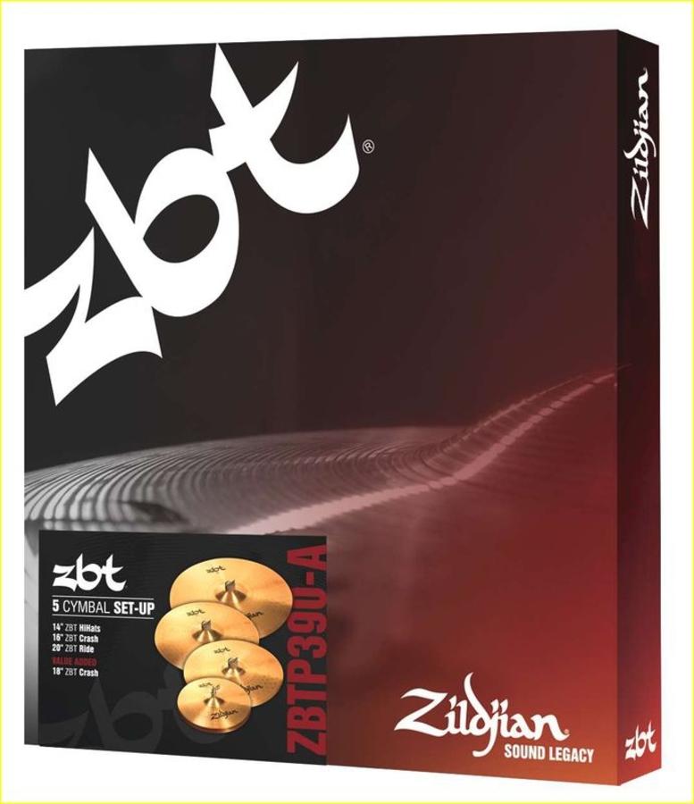 ZILDJIAN CARTONE 5 ZBT PRO 390 (ZBTP390-A): RIDE + HI-HAT + 2 CRASH