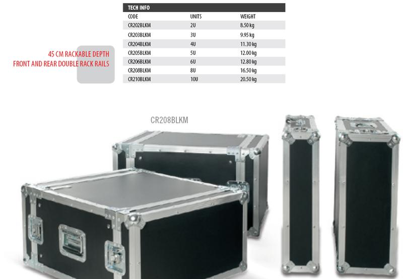 PROEL FLIGHT CASE CR 203 BLKM 3U