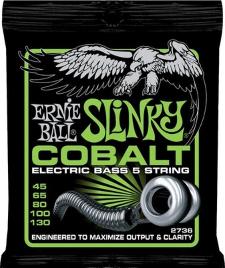 Ernie Ball 2736 Bass 5 Slinky Cobalt 45-130