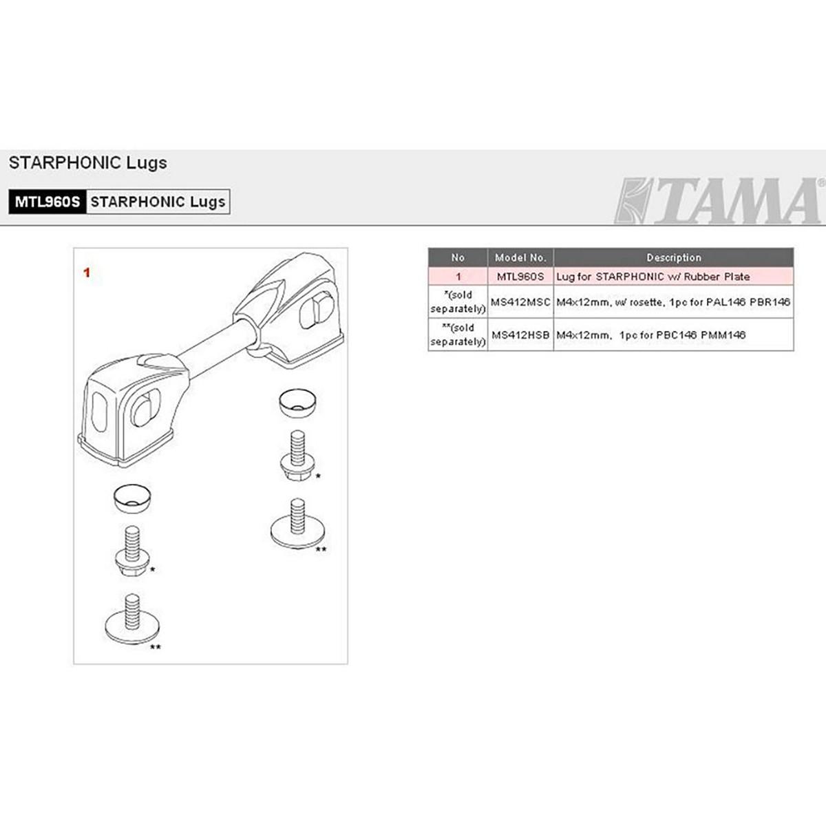TAMA MTL960S - BLOCCHETTO PER RULLANTE STARPHONIC