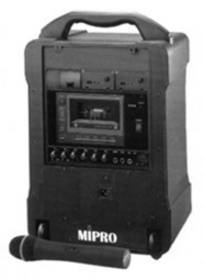 MIPRO MA 707 PACK + MH 203 RADIOMIKE DIFFUSORE MULTIUSO A BATTERIE