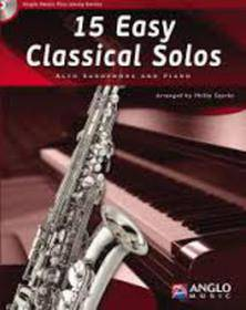 15 EASY CLASSICAL SOLOS ALTO SAX AND PIANO CD INCLUDED AMP300-400