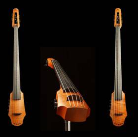 NS Design CR Electric Cello 5 Amber Stain