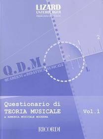 COLLANA LIZARD QUESTIONARIO DI TEORIA MUSICALE 1
