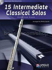 15 INTERMEDIATE CLASSICAL SOLOS FLUTE AND PIANO CD INCLUDED AMP379-400
