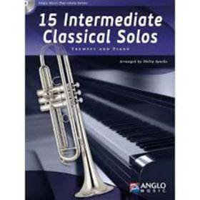15 INTERMEDIATE CLASSICAL SOLOS TRUMPET AND PIANO CD INCLUDED AMP385-400