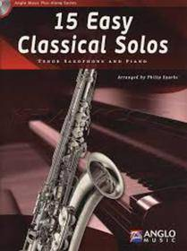 15 EASY CLASSICAL SOLOS SAX TENORE AND PIANO  CD INCLUDED AMP301-400