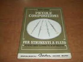 DIONISI PICCOLE COMPOSIZIONI PER STRUMENTI A FIATO (FLAUTO OBOE CLARINETTO IN SIB FAGOTTO) EB1547
