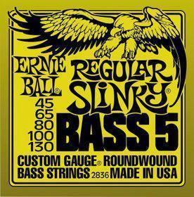 Ernie Ball 2836 Nickel Wound 5 corde Regular Slinky 45-130