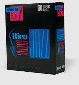 RICO JAZZ UNFILED SAX SOPRANO 3S